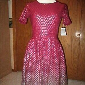 Burgundy Silver Metallic Holiday Amelia Dress XL